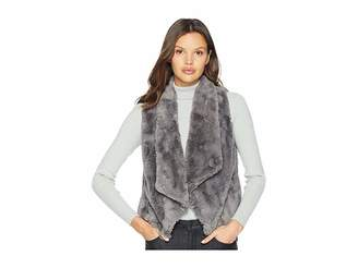 BB Dakota Big Softy Soft Faux Fur Drape Front Vest