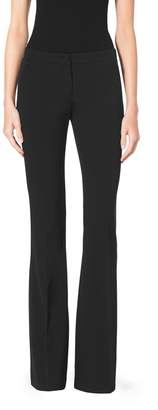 Michael Kors Stretch Wool-Gabardine Flare Pants