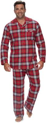 Big & Tall Jammies For Your Families Plaid Flannel Top & Bottoms Pajama Set