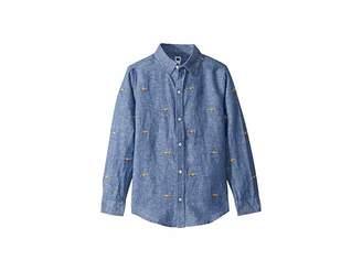 Janie and Jack Long Sleeve Button-Up Shirt (Toddler/Little Kids/Big Kids)