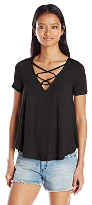 Eye Candy Junior's Swing Tee with Lace up Neck