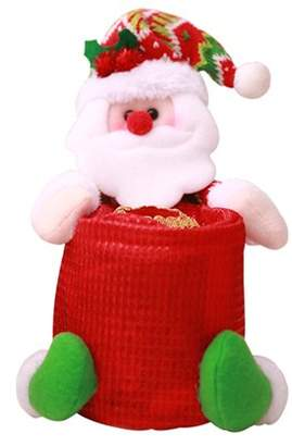 Justdolife Christmas Bath Tissue Holder Santa Snowman Doll Toilet Paper Holder Bath Tissue Cover Xmas Home Decoration