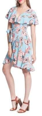 Plenty by Tracy Reese Printed Surplice Flounce Dress