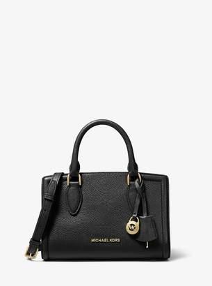 MICHAEL Michael Kors Zoe Small Pebbled Leather Satchel