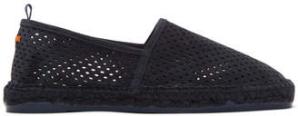 Castaner Navy Perforated Suede Pablo Espadrilles