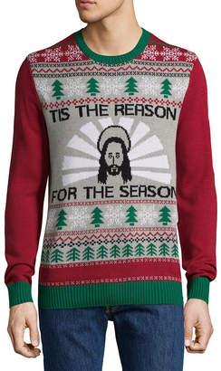 NOVELTY SEASON Novelty Season Crew Neck Long Sleeve Pullover Sweater