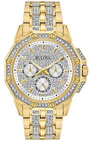 Bulova Men's Goldtone Crystal Watch