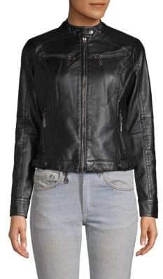 Odyn Faux Leather Biker Jacket
