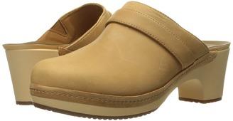 Crocs - Sarah Leather Clog Women's Clog/Mule Shoes $65 thestylecure.com