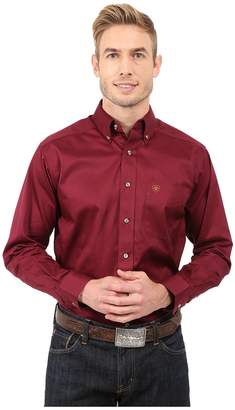 Ariat Solid Twill Shirt Men's Long Sleeve Button Up