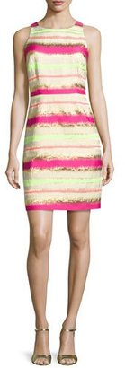 Laundry by Shelli Segal Multi-Stripe T-Back Dress, Electric Pink $225 thestylecure.com