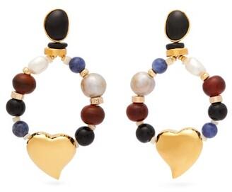 Lizzie Fortunato Candy Heart Multi Stone Earrings - Womens - Multi
