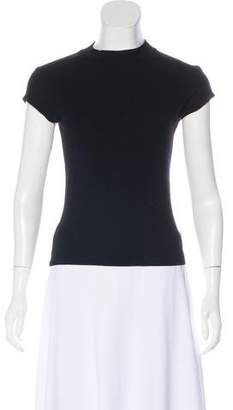 Versace Mock Neck Short Sleeve Top