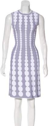 Alaia Jacquard Fit & Flare Dress