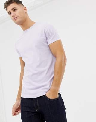 Asos DESIGN organic t-shirt with crew neck in purple