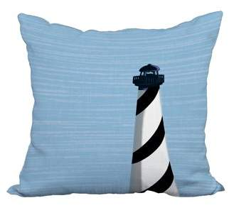 Simply Daisy 22 x 22 Inch Black Nautical Print Decorative Polyester Throw Pillow with a Linen Texture