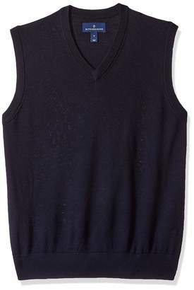 Buttoned Down Men's Italian Merino Wool Lightweight Tank Sweater Vest Midnight Navy X-Small