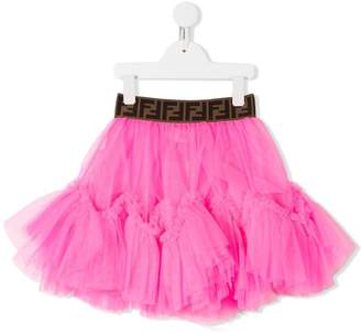 Fendi logo tutu skirt