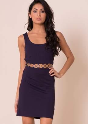 a4b5cb007a9 Missy Empire Missyempire Tia Navy Ring Detail Mini Dress