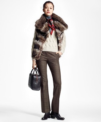 Brooks Brothers Raccoon Fur Vest