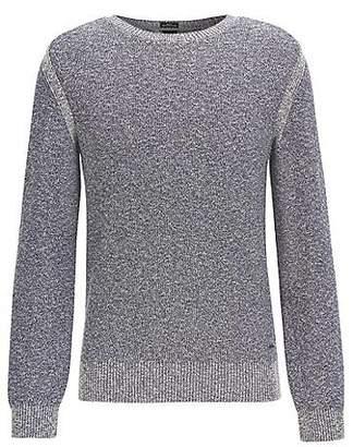 HUGO BOSS Mouliné cotton-blend sweater with shoulder detailing