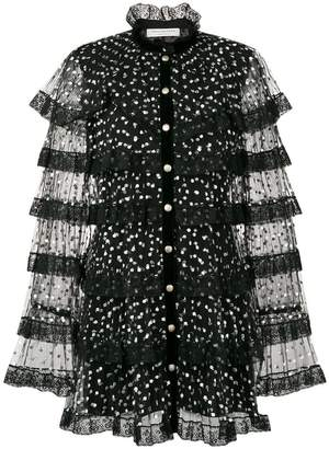Philosophy di Lorenzo Serafini polka dot sheer dress
