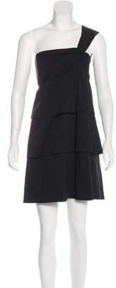 Robert Rodriguez Tiered One-Shoulder Dress