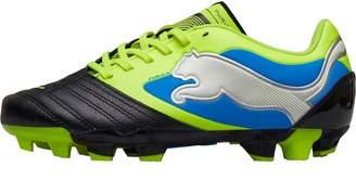 c076492b337 Puma Junior PowerCat 3 FG Football Boots Black Fluorescent Yellow White  Brilliant