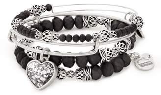 Alex and Ani Crystal Rose Set of 3 Stacking Bracelets
