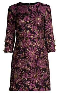 Trina Turk Moonrise Three-Quarter Sleeve Mini Dress