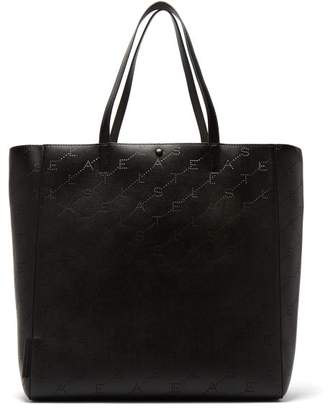 Stella McCartney Stella Logo Faux Leather Tote Bag - Womens - Black