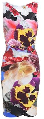 Roberto Cavalli Floral-printed stretch wrap dress