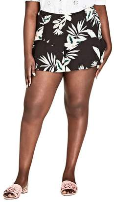 City Chic Oahu Orchid Shorts