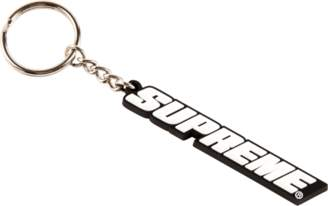 Supreme Bevel Logo Keychain - 'SS 18' - Black/White