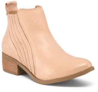 fb92f73e9844 Made In Brazil Leather Ankle Booties
