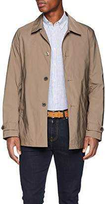 Brooks Brothers Men's Trench Corto BLU Coat, (Dark Beige), X-Large