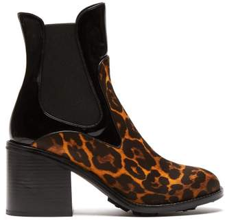 Fabrizio Viti - Madison Leopard Print Leather Ankle Boots - Womens - Leopard