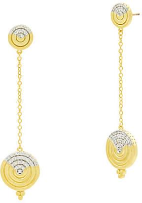 Freida Rothman Fleur Bloom Empire Circular Dangle Earrings