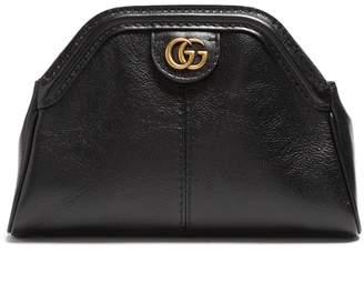 GG leather clutch