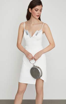 BCBGMAXAZRIA Sequin-Trimmed Sheath Dress
