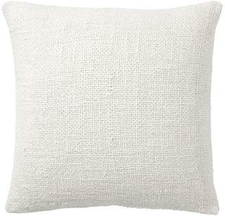 Pottery Barn Faye Textured Linen Pillow Cover - Ivory