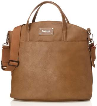 Babymel Grace Faux Leather Satchel Diaper Bag, Tan