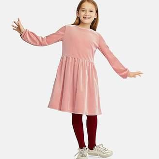 Uniqlo Girl's Velour Long-sleeve Dress