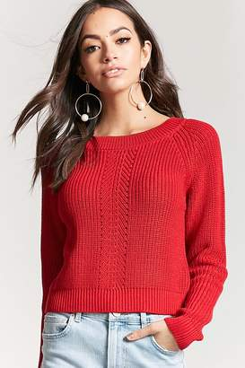 Forever 21 Ribbed Pointelle Sweater