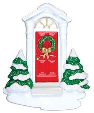 Personalized by Santa Home New Door Shaped Ornament