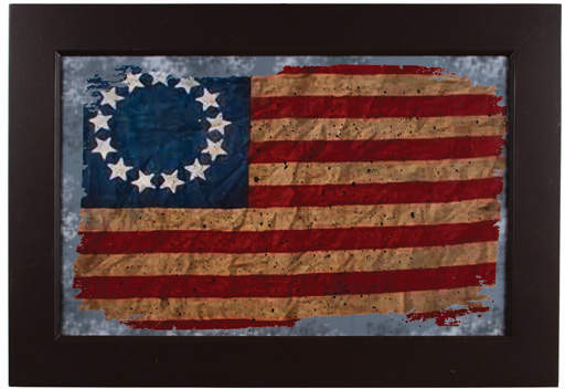 Framed American Flag Wall Art