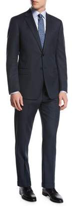 Giorgio Armani Pindot Birdseye Wool Two-Piece Suit, Blue