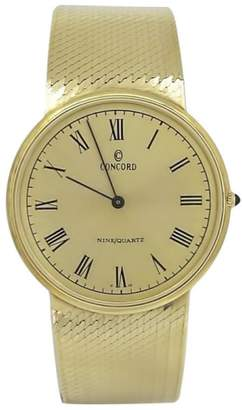 Concord 14K Yellow Gold Quartz 32mm Mens Watch