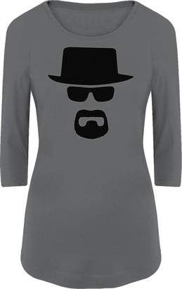 Walter BSW Women's Heisenberg White Breaking Bad Black Hat 3/4 Sleeve LRG