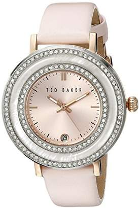 """Ted Baker Women's TE2124 """"Vintage Glam"""" Crystal-Accented Stainless Steel Pink Watch"""